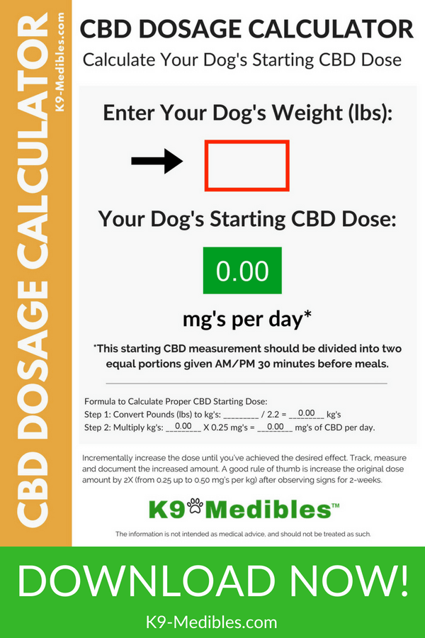 CBD Oil Dosage for Dogs