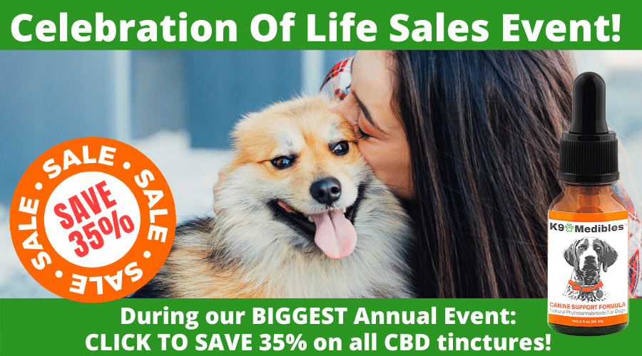 Click here to shop our CBD Oil for your dog and save 35%