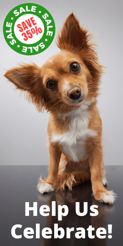 Help us Celebrate! Save 35% off our CBD Oil for dogs!